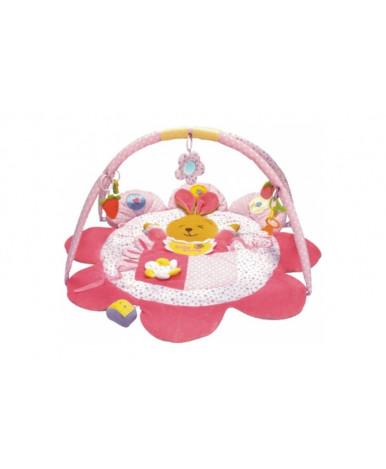Коврик Baby mix зайка развивающий, розовый