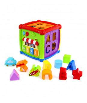 Развивающая игрушка-сортер Куб Baby mix пластиковый (15*15 см)