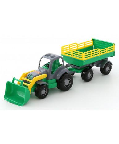 """""""Крепыш"""", трактор с прицепом №2 и ковшом"""