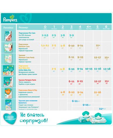 Подгузники Pampers Active Baby 6 (13-18кг) 56шт