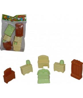 Набор Polesie мебели для кукол №1 (6 элементов в пакете)