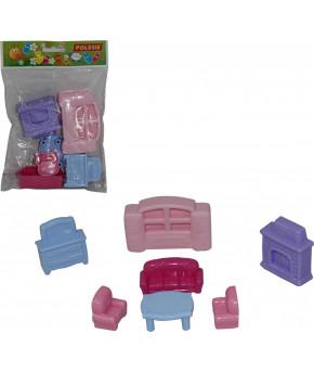 Набор Polesie мебели для кукол №2 (7 элементов в пакете)