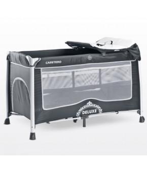 Кровать-манеж Caretero Deluxe, graphite