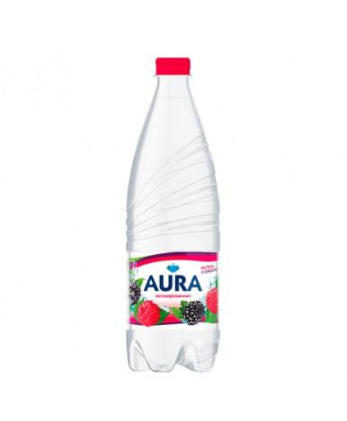 Напиток Аура питьевая негазированная со вкусом малины и ежевики 1л