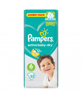 Подгузники Pampers Active Baby 6 (13-18кг) 52шт
