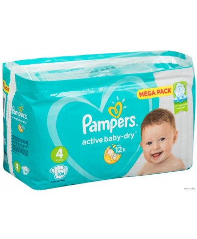 Подгузники Pampers Active Baby 4 (9-14кг) 106шт