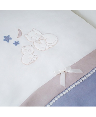Комплект в кроватку Perina Котята лазурь 4пр