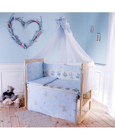 Комплект в кроватку Баю-Бай Улыбка голубой 3пр