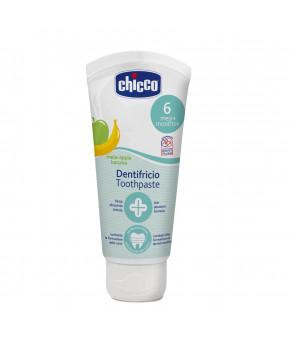 """Зубная паста """"Chicco"""" со вкусом яблока и банана с ксилитолом 50мл, 6+"""