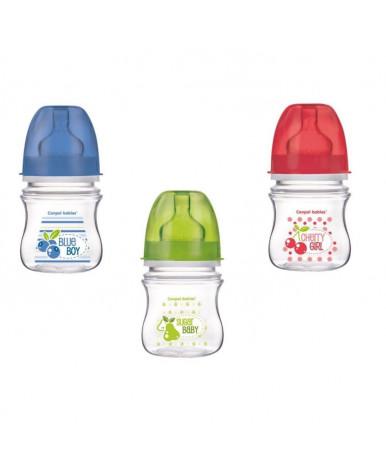 Бутылочка Canpol Фрукты антиколиковая пластиковая силиконовая соска круглая 120мл