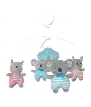 Каруселька BabyMix Коалы с плюшевыми игрушками