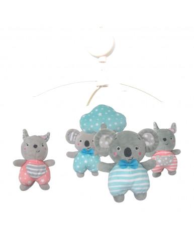 Каруселька BabyMix с плюшевыми игрушками, Коалы