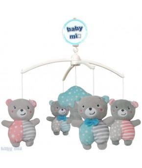 Каруселька BabyMix Медвежата с плюшевыми игрушками