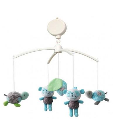 Каруселька BabyMix с плюшевыми игрушками, Панды и черепашки