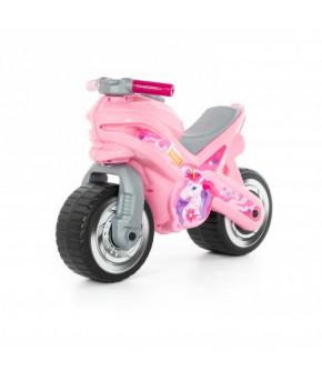 Мотоцикл-каталка Полесье МХ (розовая)