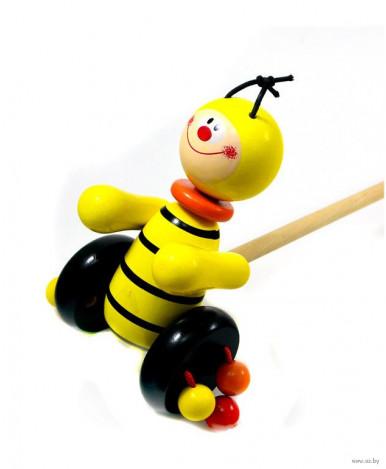 Игрушка-каталка Пчелка деревянная