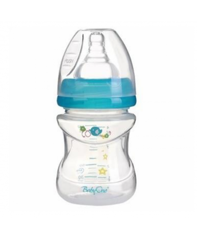 Бутылочка BabyOno антиколиковая с широким горлышком 120 мл