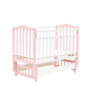 Кровать детская Bambini Classic 11, бело/розовая