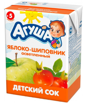 Сок Агуша яблоко и шиповник 200мл