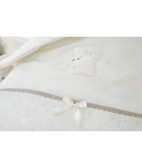Комплект в кроватку Perina Le petit bebe молочно-кофейный 3 пр