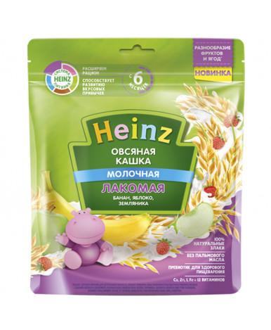 Каша Heinz овсяная банан яблоко земляника мягкая упаковка 170г