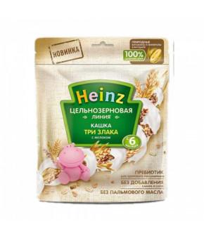 Каша Heinz 3 злака цельнозерновая молочная мягкая упаковка 180г