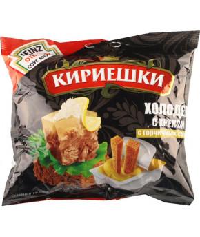 """Сухарики """"Кириешки"""" со вкусом холодца и хрена с вложением горчицей соуса, 25гр"""