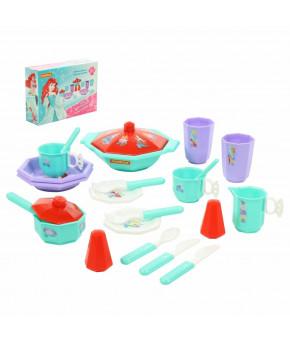 Набор детской посуды Полесье Disney Принцесса Ариэль Готовим вместе