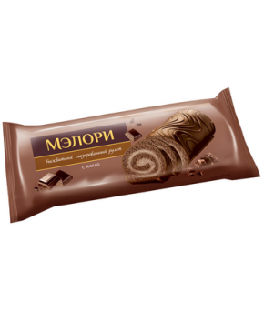 Рулет бисквитный Мэлори глазированный с какао 200г