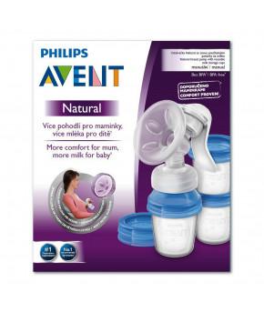 Молокоотсос ручной Avent Natural Comfort с контейнерами 180мл