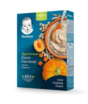 Каша Gerber овсяная тыква абрикос безмолочная 180г