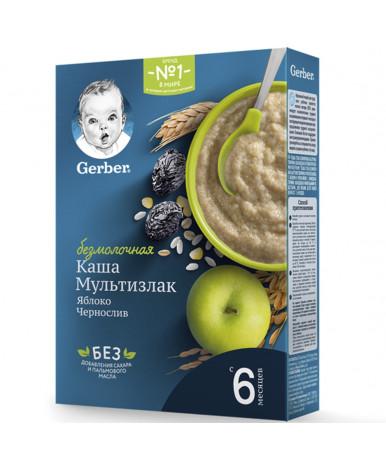 Каша Gerber мультизлаковая яблоко чернослив безмолочная 180г