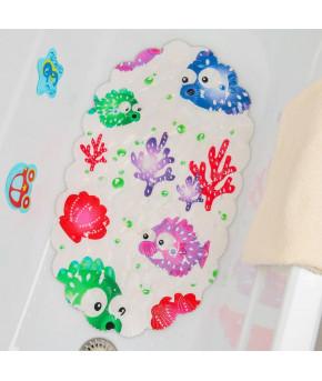 Коврик для ванны Доляна антискользящий Spa Рыбка шар 39х69см