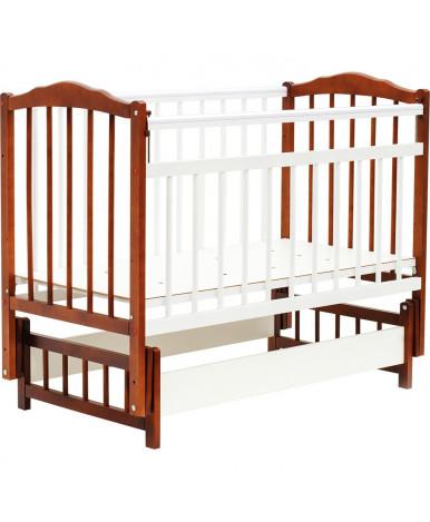 Кровать детская Bambini Classic 11, светлый орех/белый