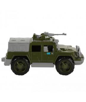 Автомобиль джип Полесье защитник №1 с 1-м пулемётом военный