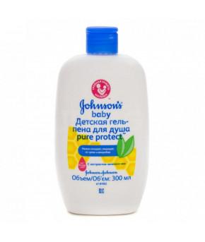 Гель-пена для душа Johnsons Baby Pure Protect 300мл