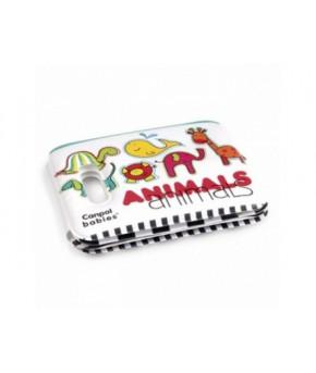 Развивающая игрушка-книга Canpol с пищалкой Цветные животные