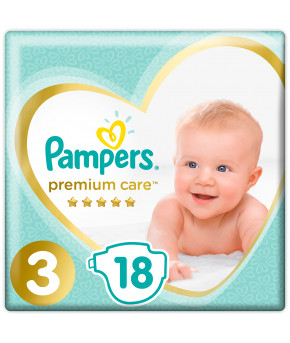 Подгузники Pampers Premium Care 3 (6-10кг) 18шт