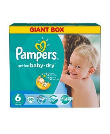 """Подгузники """"Pampers"""" Active Baby 6 (15+ кг) 66шт ( 2 части цена за 33 шт.)"""