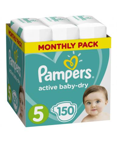 Подгузники Pampers Active Baby 5 (11-16кг) 150шт (3 части цена за 50 шт)