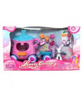 Игровой набор Пони с каретой 373