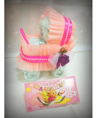 Коляска подарочная Pampers new baby-dry 1 (27шт)