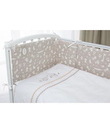 Комплект в кроватку Perina Toys Зверюшки песочные 6пр