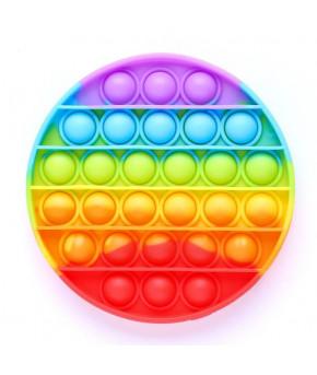 Игрушка-антистресс Вечная пупырка Круглая, радуга