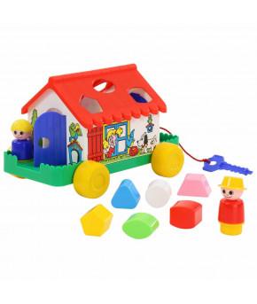 Развивающая игрушка сортер Полесье Игровой дом (в сеточке)