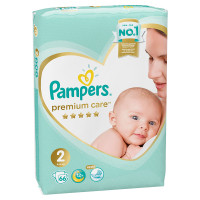 Подгузники Pampers Premium Care 2 (4-8кг) 66шт