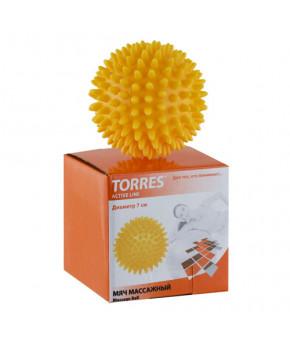 """Мяч массажный """"TORRES"""",диам. 7 см, ПВХ с выступами 1 см"""