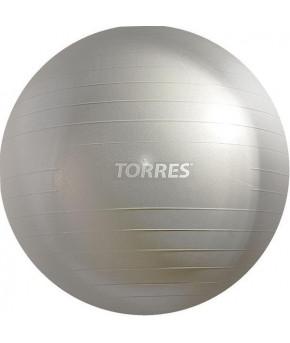 """Мяч гимнастический """"Torres"""", серебристый, 75см"""
