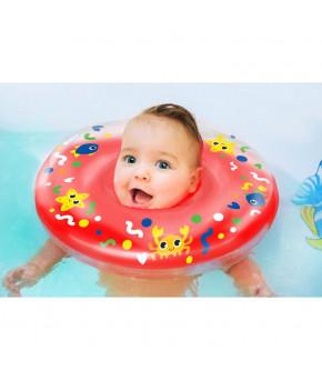 Круг на шею Крошка Давай купаться двухкамерный с погремушками