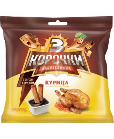 Сухарики 3 корочки ржаные со вкусом курицы и соусом Терияки 60г